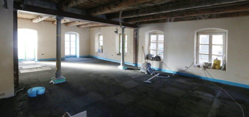 Der Schwarzachsaal kurz vor der Fertigstellung